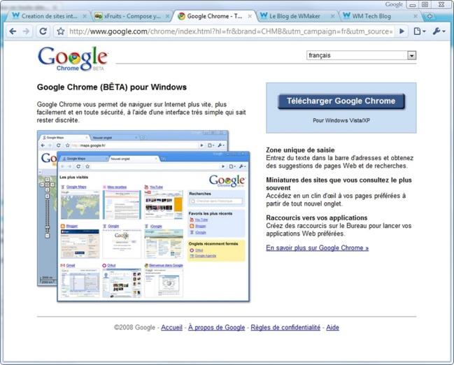 Chrome, le navigateur Web de Google