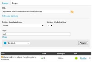 Import / Export RSS. Une nouvelle source de contenus pour vos sites