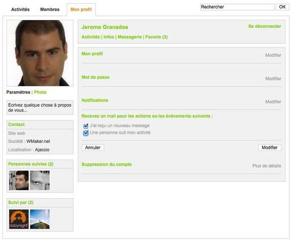 Les nouveautés du profil