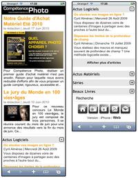 Nouvelle version Web Mobile
