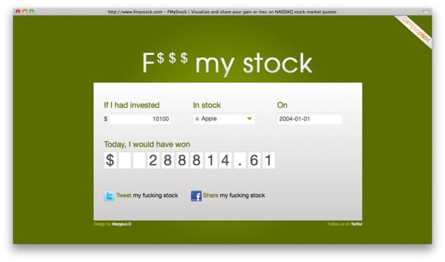 Amusez-vous bien avec F$$$ My Stock