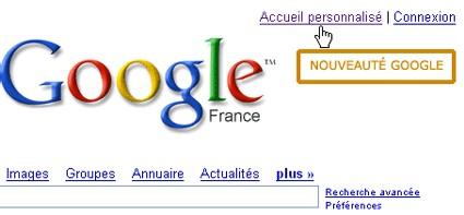 Musicienbiz en page d'accueil de Google.