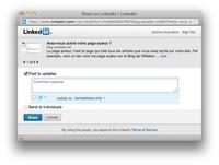 Partage sur LinkedIn