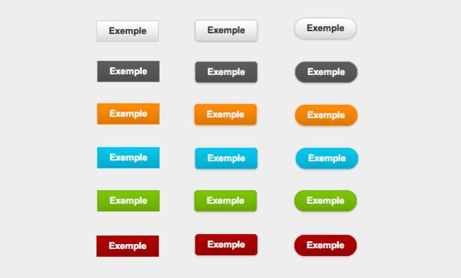 Les boutons CSS3 : carrés, arrondis, super-arrondis !