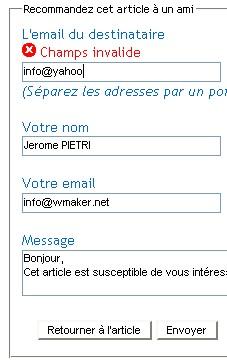 Des formulaires Web 2.0