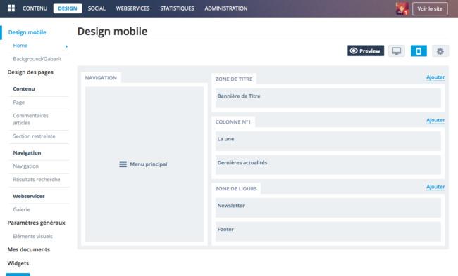 Backoffice : Design Mobile