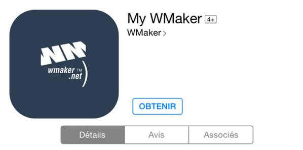 Mise à jour de l'app My WMaker sur iOS