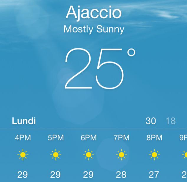 Il va faire très chaud ...