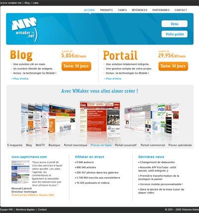 Nouveau portail WMaker.net