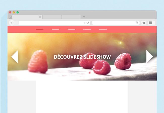 Slideshow dans le header en mode pleine page