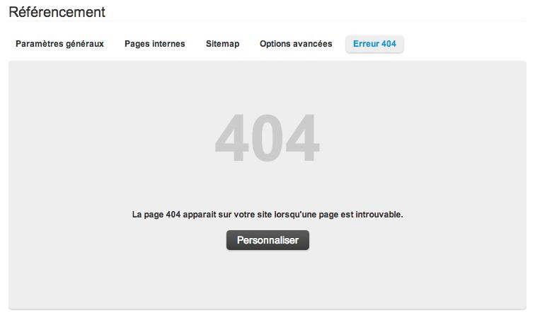 Même la page 404 est personnalisable !