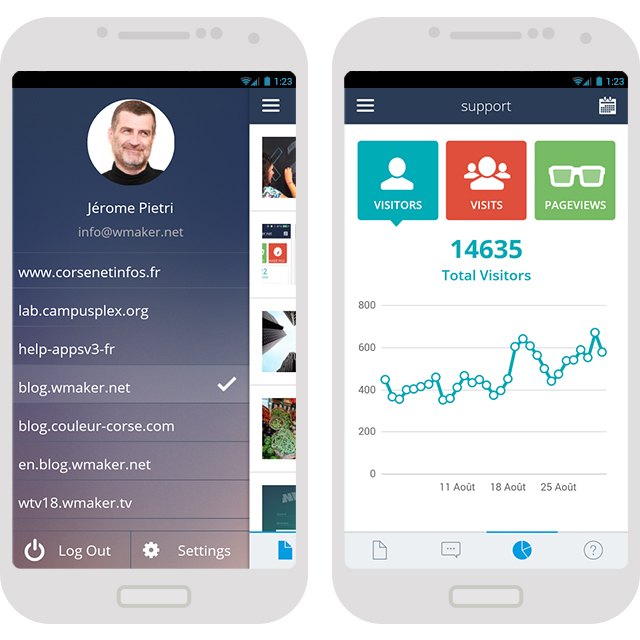 App Android des backs office CMS enfin disponible !