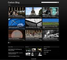 Maquette Carbon pour Blog+