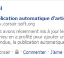 De la publication automatique sur Facebook...