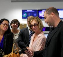 La ministre du commerce extérieur nous rend visite au CampusPlex