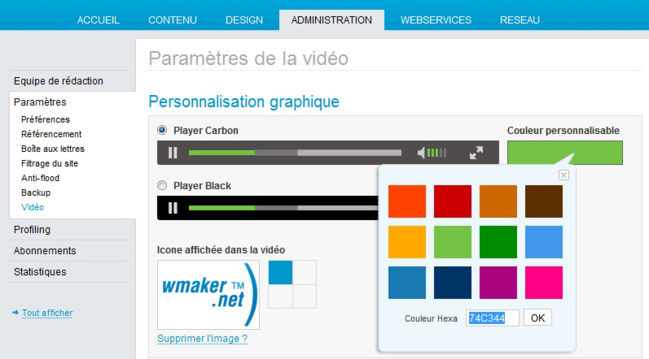 Personnalisez le design de votre player video