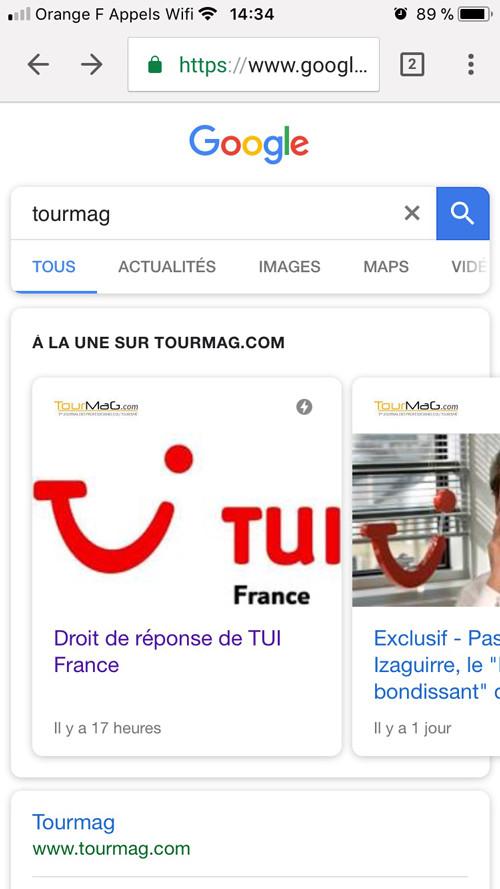 Résultat de recherche pour le site tourmag.com