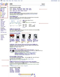 Exemple de résultat d'une recherche universelle