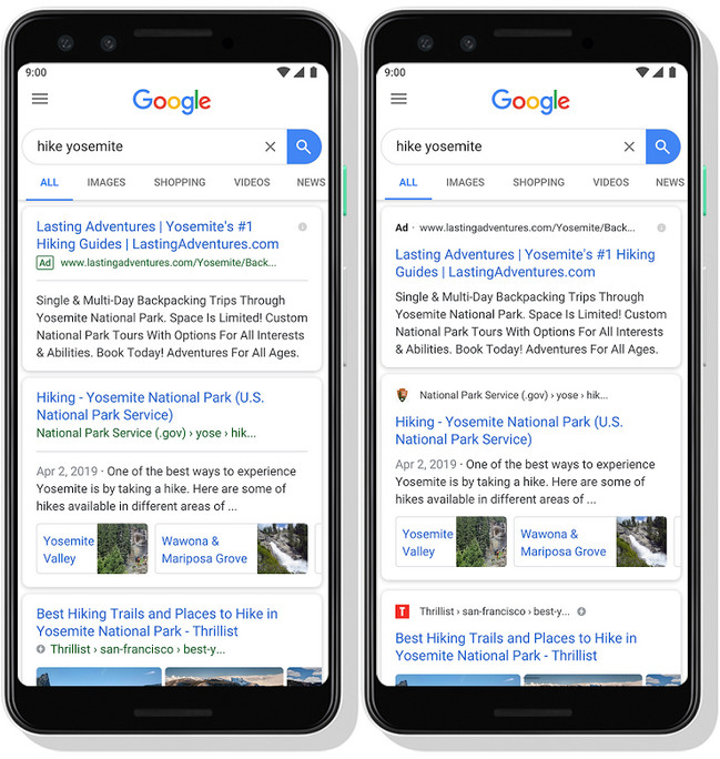"""A new look for Google Search"""