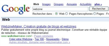 Indexation Google de notre service gratuit