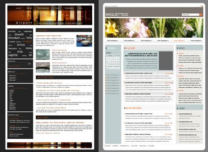 Nouveaux Designs de maquettes blog et portail