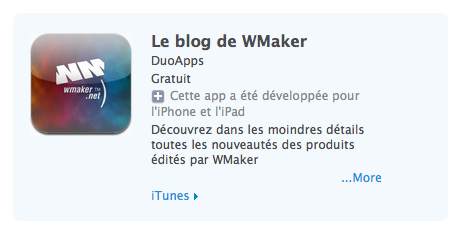 Blog de WMaker : les apps iOS, Android et WP7