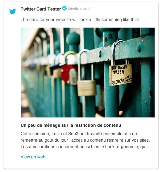 Exemple de Twitter Card