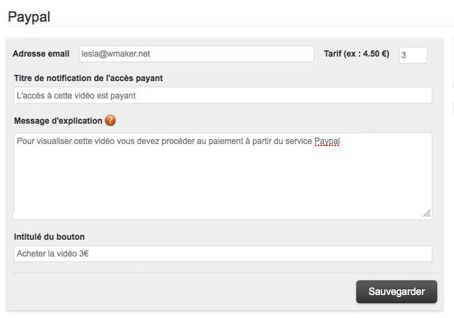 Restriction et Micro-paiement pour les WebTV