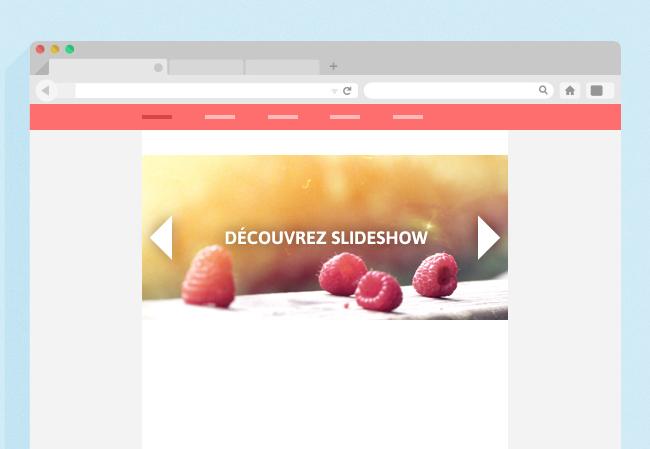 Slideshow en colonne centrale