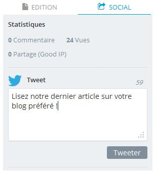 Personnalisez vos Tweets et vos urls à la publication d'un article