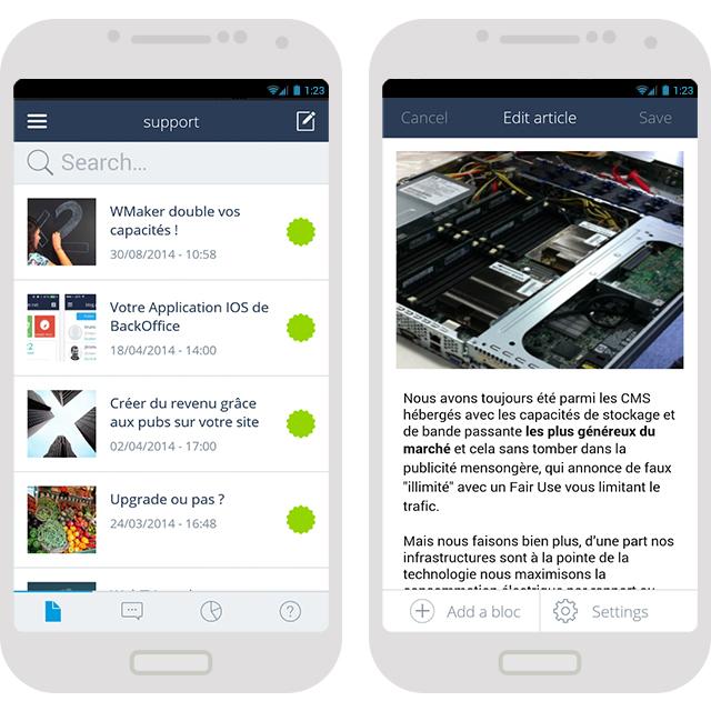 App Android des backs office CMS enfin disponible !