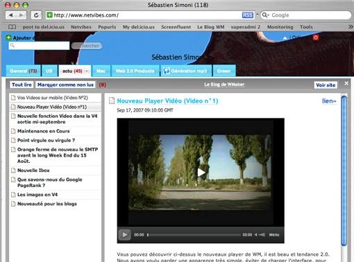 Flux RSS et Video