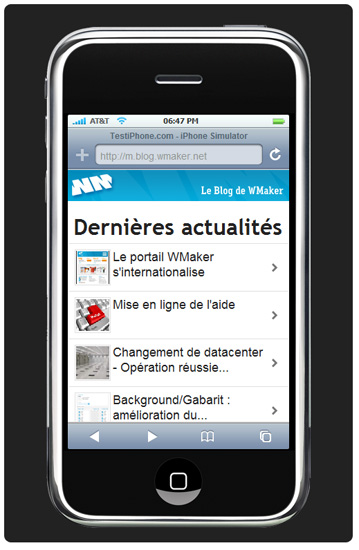 iPhone: version mobile dédiée