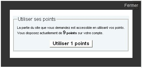 L'abonnement par points