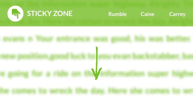 Stickyzone : ne laissez pas votre logo se perdre dans votre site...