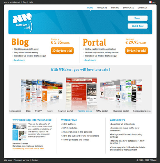 Le portail WMaker s'internationalise