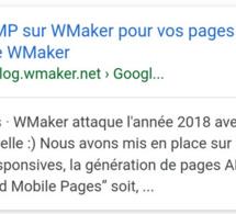 Fonctionnement de Google AMP sur WMaker