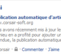 De la publication automatique sur Facebook...