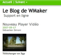 Vos Videos sur mobile